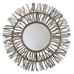 Buy Uttermost Josiah 38 Inch Round Wall Mirror in Gray on sale online