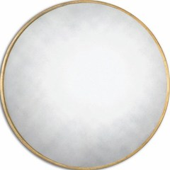 Buy Uttermost Junius 43 Inch Round Gold Wall Mirror in Antique Gold on sale online