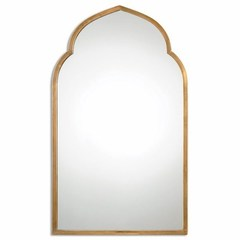 Buy Uttermost Kenitra 40x24 Gold Arch Wall Mirror in Antique Gold on sale online