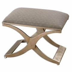 Buy Uttermost Kiah Contemporary Small Bench in Silver and Grey on sale online
