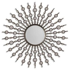 Buy Uttermost Kimani 39 Inch Round Decorative Mirror in Antiqued Silver on sale online