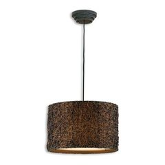 Buy Uttermost Knotted Rattan 3 Light Hanging Shade in Espresso on sale online