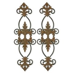 Buy Uttermost Lacole 35x11 Wall Art in Rust Brown (Set of 2) on sale online
