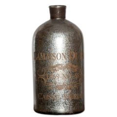 Buy Uttermost Lamaison Glass Bottle Large in Mercury on sale online