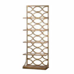 Buy Uttermost Lashaya 80 Inch Traditional Etagere in Gold on sale online