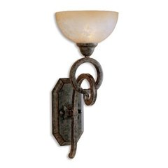 Buy Uttermost Legato Wall Sconce in Chestnut Brown on sale online