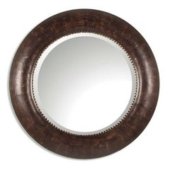 Buy Uttermost Leonzio 42 Inch Round Wall Mirror in Brown on sale online