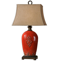 Buy Uttermost Mataline Lamp in Crackled Red on sale online
