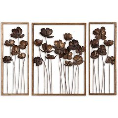 Buy Uttermost Metal Tulips 40x27 Wall Art (Set of 3) on sale online