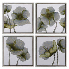Buy Uttermost Mini Floral Glow 22 Inch Square Wall Art (Set of 4) on sale online