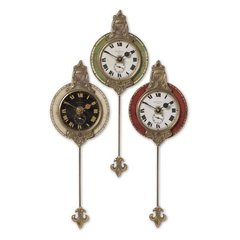 Buy Uttermost Monarch Clock (Set of 3) on sale online