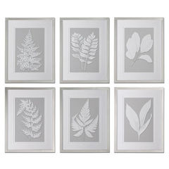 Buy Uttermost Moonlight Ferns 26x20 Rectangular Framed Art (Set of 6) on sale online