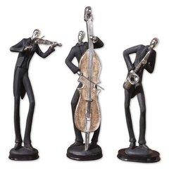 Buy Uttermost Musicians Statues in Silver (Set of 3) on sale online