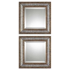 Buy Uttermost Norlina Squares 18 Inch Square Wall Mirror (Set of 2) on sale online