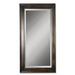 Buy Uttermost Palmer Rectangular 70x40 Wall Mirror in Distressed Black on sale online
