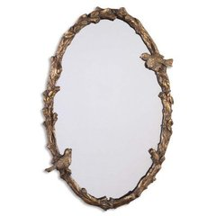 Buy Uttermost Paza Oval 34x22 Wall Mirror Antiqued Gold on sale online