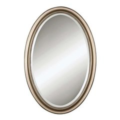 Buy Uttermost Petite Manhattan 31x21 Oval Mirror in Champagne Silver on sale online