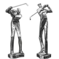 Buy Uttermost Practice Shot Metallic Statues (set of 2) on sale online