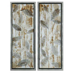 Buy Uttermost Pressed Leaves 51x19 Rectangular Wall Art(Set of 2) on sale online