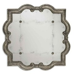 Buy Uttermost Prisca Small 36 Inch Square Wall Mirror in Silver on sale online