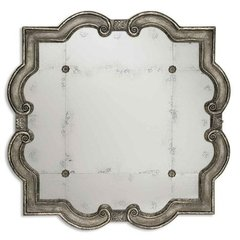 Buy Uttermost Prisca 65 Inch Square Wall Mirror in Silver on sale online