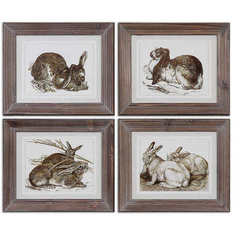 Buy Uttermost Regal Rabbits 13x11 Rectangular Framed Art on sale online