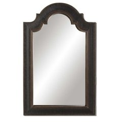 Buy Uttermost Ribbed Arch 45x29 Wall Mirror in Crackled Black and Gold on sale online