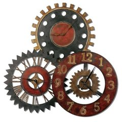 Buy Uttermost Rusty Movements Clock in Rustic Red on sale online