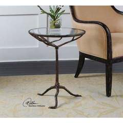 Buy Uttermost Sadira Cast Iron Round 19x19 Accent Table on sale online