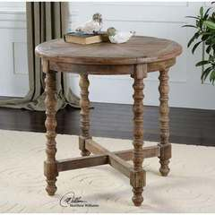 Buy Uttermost Samuelle Round Wooden 26x26 End Table on sale online