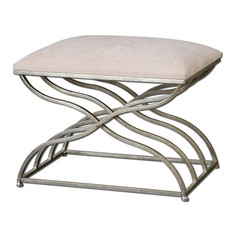 Buy Uttermost Shea Small Bench in Satin Nickel on sale online