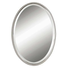 Buy Uttermost Sherise Oval 32x22 Wall Mirror in Brushed Nickel on sale online