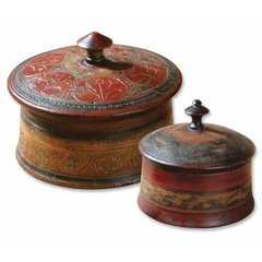 Buy Uttermost Sherpa Boxes in Brown (Set of 2) on sale online