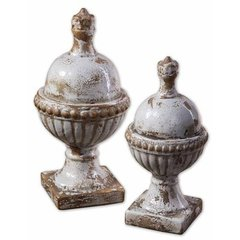 Buy Uttermost Sini Finials in Blue (Set of 2) on sale online