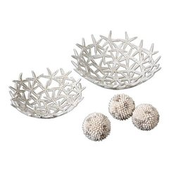 Buy Uttermost Starfish Bowls With Spheres (Set of 5) on sale online