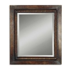 Buy Uttermost Tanika 32x28 Wall Mirror in Mahogany on sale online