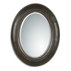 Buy Uttermost Tivona Oval 35x27 Wall Mirror in Distressed Dark on sale online