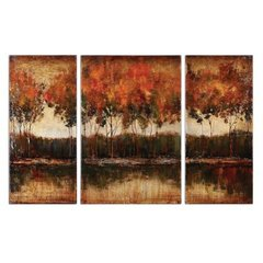 Buy Uttermost Trilakes 56x36 Canvas Art I, II, III (Set of 3) on sale online
