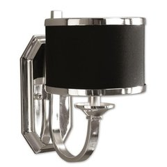 Buy Uttermost Tuxedo Wall Sconce in Silver on sale online