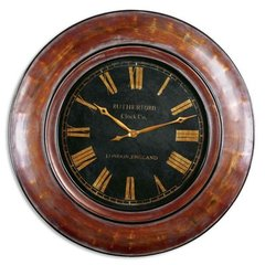 Buy Uttermost Tyrell Clock in Distressed Walnut Brown on sale online