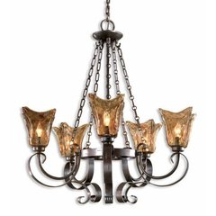 Buy Uttermost Vetraio 5 Light Chandelier in Bronze on sale online