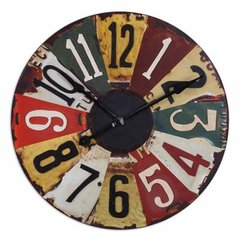 Buy Uttermost Vintage License Plates Clock on sale online