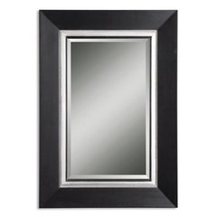 Buy Uttermost Whitmore 40x30 Vanity Mirror in Black and Silver on sale online