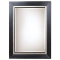 Buy Uttermost Whitmore 54x40 Wall Mirror in Black with Silver on sale online
