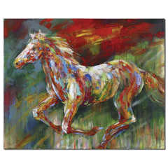 Buy Uttermost Wild Run 50x40 Rectangular Hand Painted Art on sale online