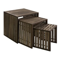 Buy IMAX Worldwide Vermont Iron and Wood Nesting Tables (Set of 3) on sale online