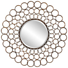 Buy Cooper Classics Vernon 38 Inch Round Mirror in Cooper on sale online