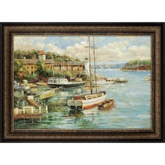 Buy Paragon Village Harbor 55x40 Framed Wall Art  on sale online