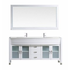 Buy Virtu USA Ava 63x22 Double Bathroom Vanity Cabinet Set in White on sale online
