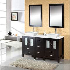 Buy Virtu USA Bradford 60 Inch Double Sink Bathroom Vanity in Espresso on sale online
